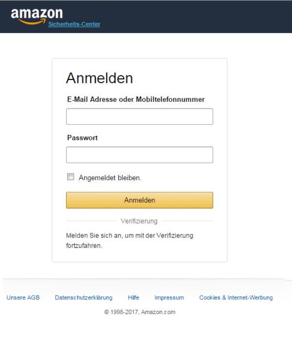 E-Mail Adresse Amazon